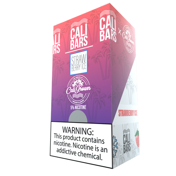 Cali Bar (California Grown) Disposables - Strawberry Ice (10 Pack Case)