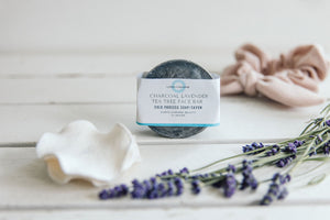 Charcoal Lavender Tea Tree Face Bar