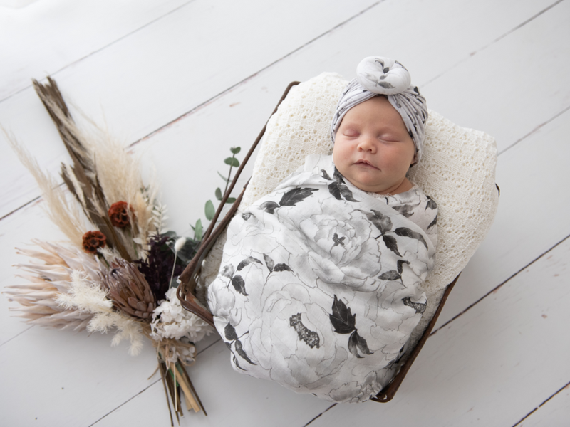 Kute Cuddles - Organic Bamboo Swaddle - Elsie