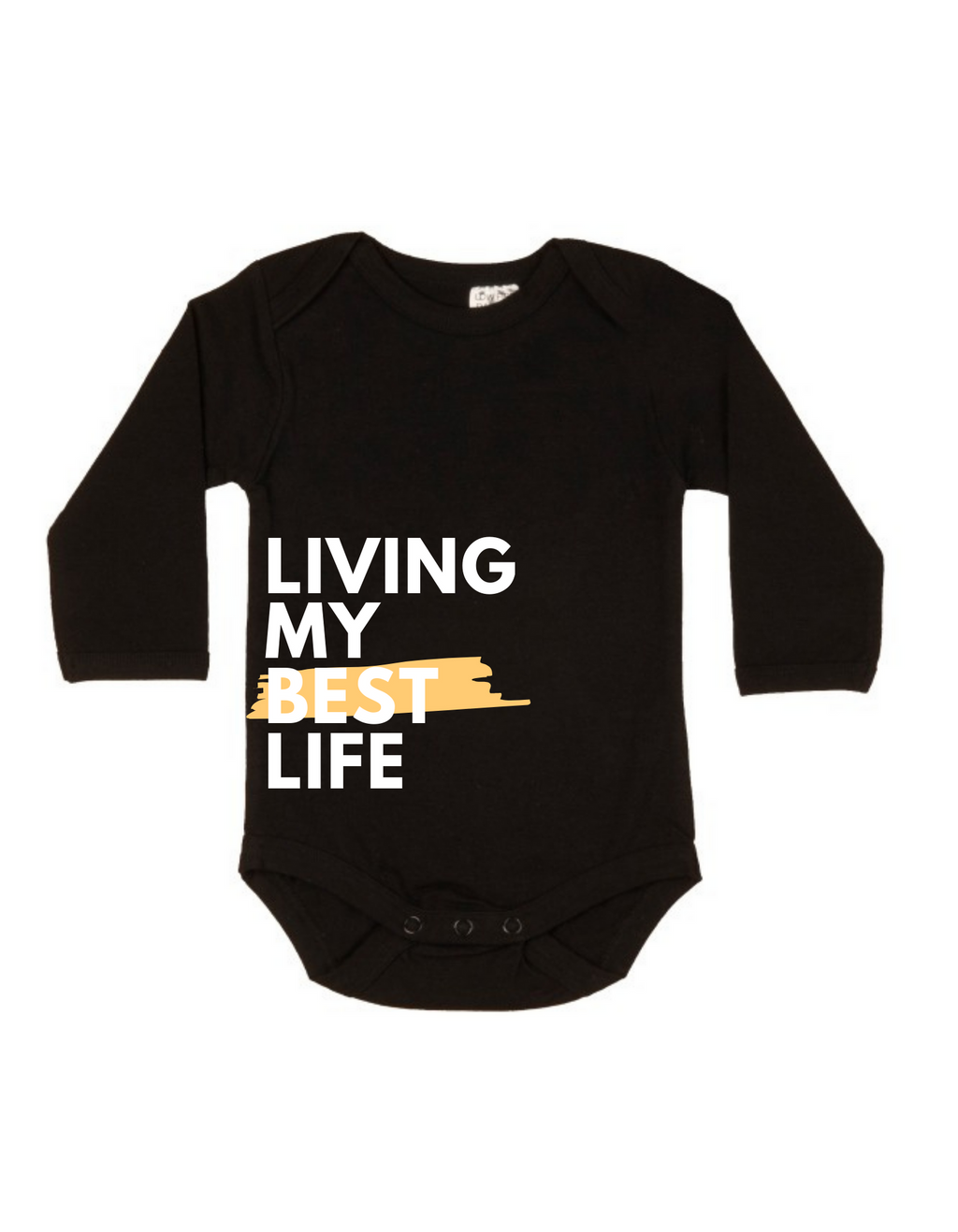 MLW By Design - Best Life Long Sleeve Bodysuit | Black or White