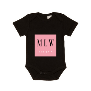 MLW By Design - Pink EST Short Sleeve Bodysuit | Black or White