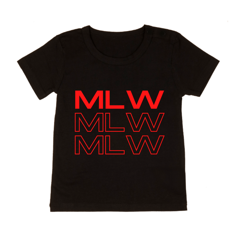 MLW By Design - Red MLW Stamped Tee | Black or White