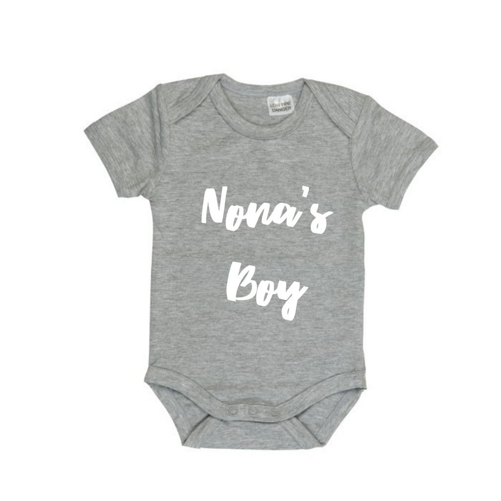 MLW By Design - Nona's Boy Bodysuit | Grey