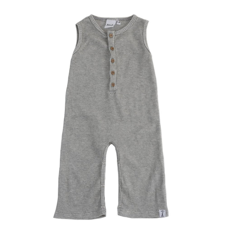 Bobby G Baby Wear - Heather Grey Waffle Romper