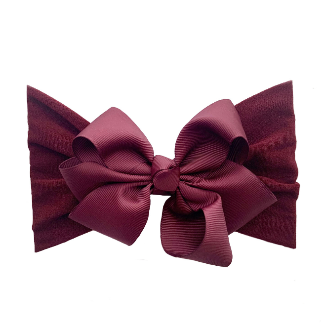 Sweet Tots Shop - MIA Bow - Burgundy