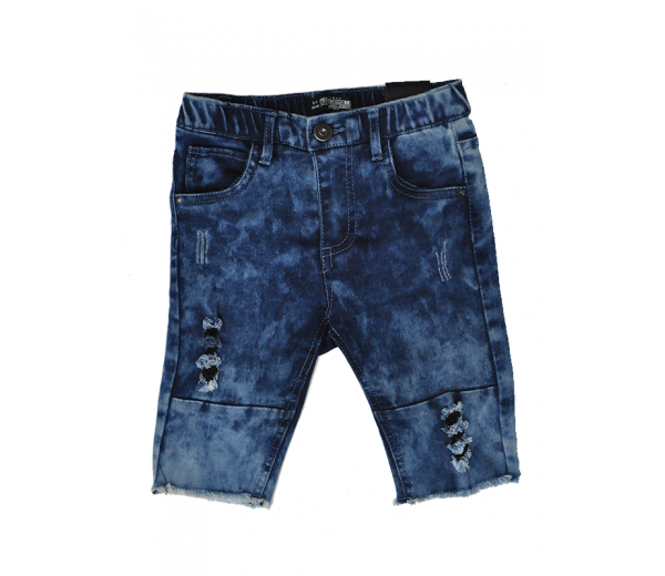 TPTB - DISTRESSED AUTHORITY SHORTS - BLUE