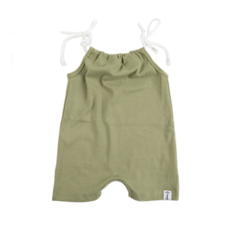 Bobby G Baby Wear - Dainty Short Romper | Cactus Ribbed