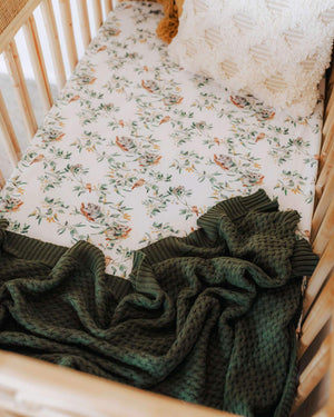 Snuggle Hunny Kids - Olive | Diamond Knit Baby Blanket