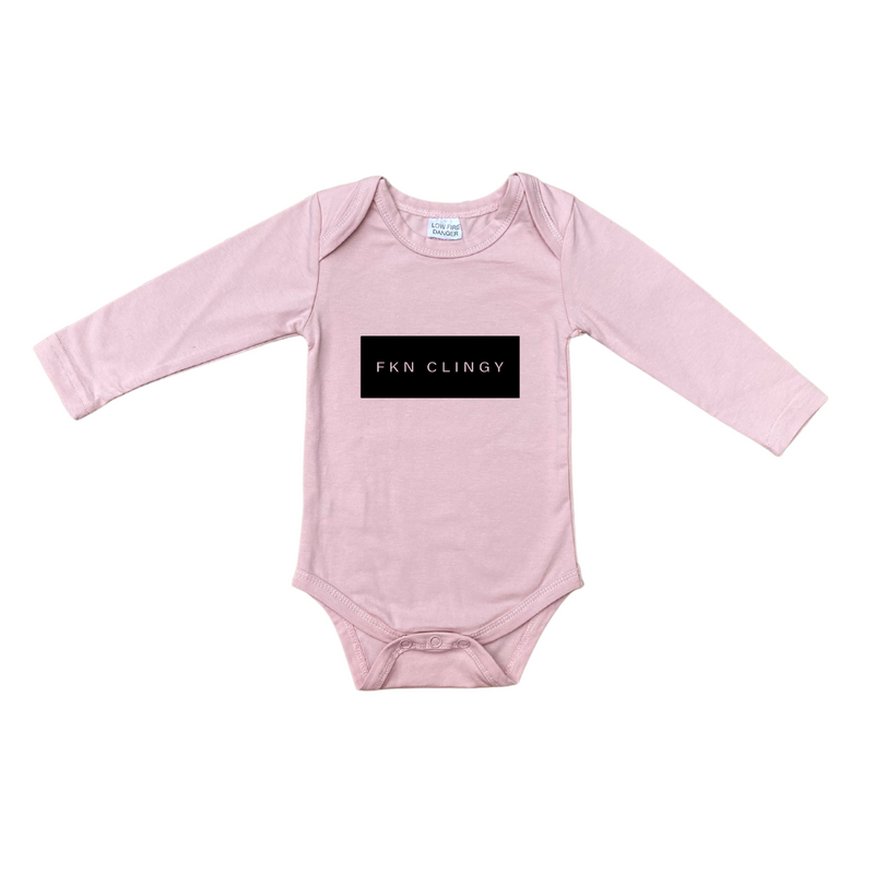 MLW By Design - FKN CLINGY Long Sleeve Bodysuit | Pink