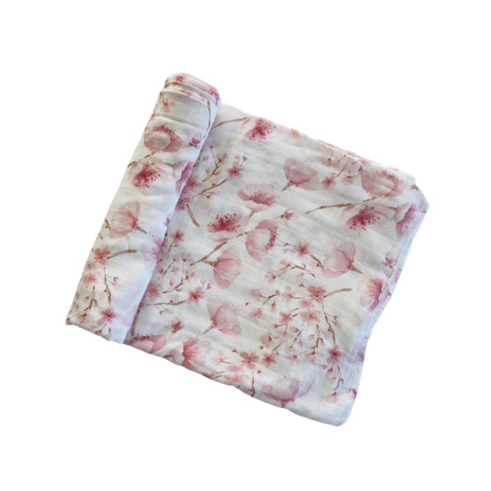 "Anchor & Arrow - ""Cherry Blossom"" Organic Baby Swaddle"