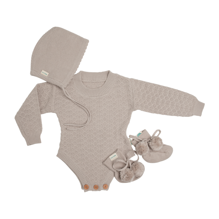 Kute Cuddles - Organic Knitted Romper - Frankie