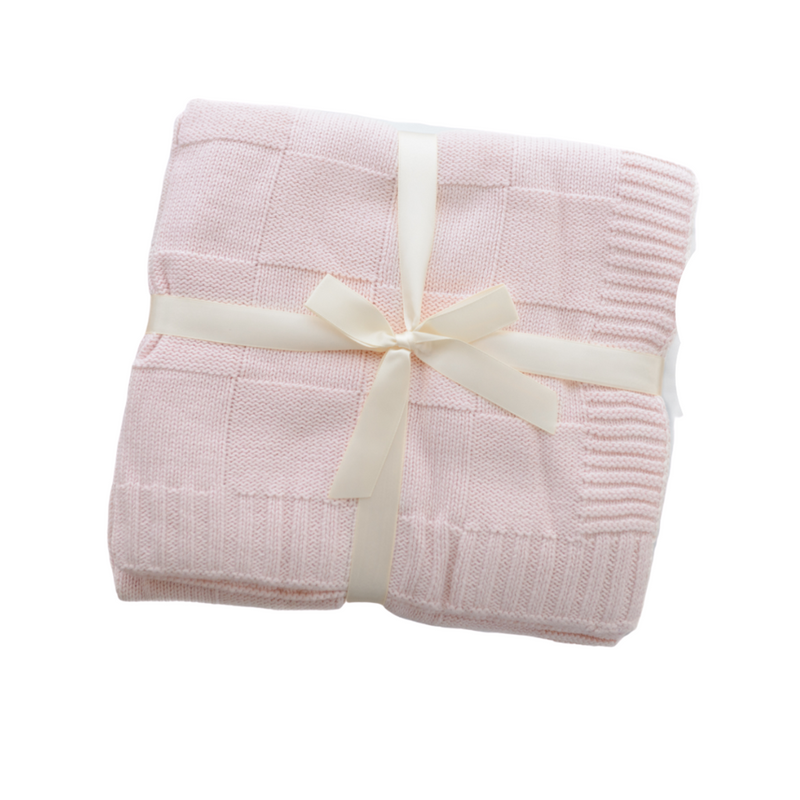 Anchor & Arrow - Knit Baby Blanket - Dusty Pink