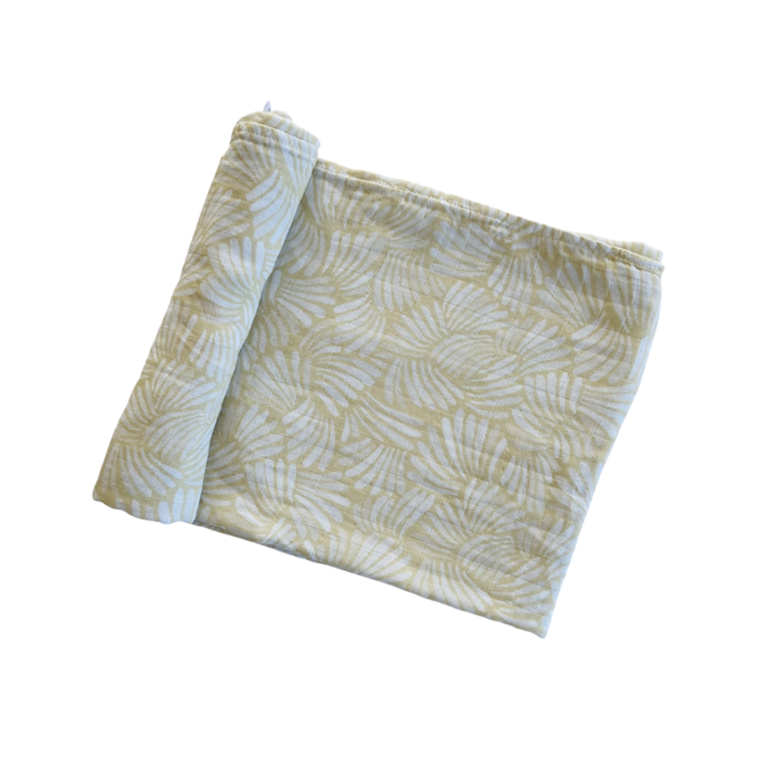 "Anchor & Arrow - ""Sandy Shells"" Organic Baby Swaddle"