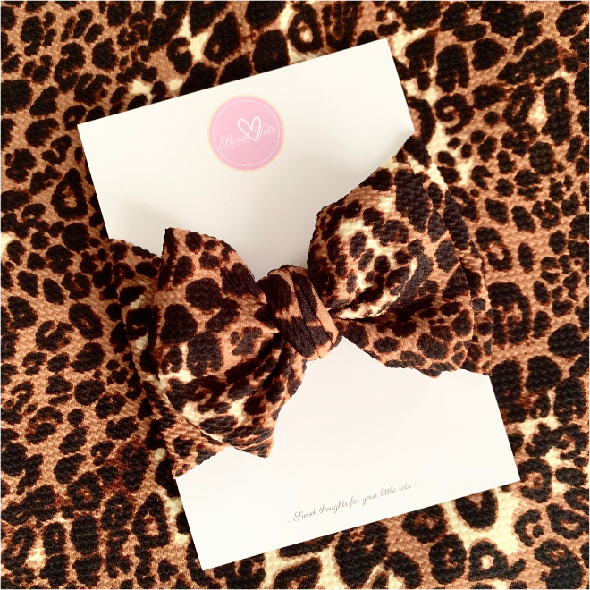 Sweet Tots Shop - Leopard Messy Bow