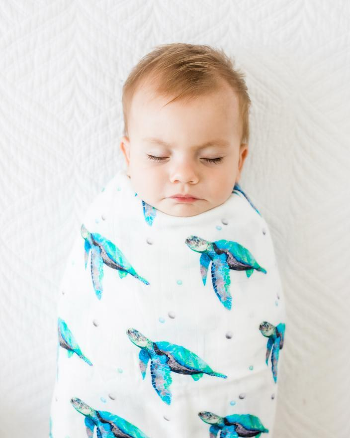 "Anchor & Arrow - ""Sea Turtle""  Swaddle"