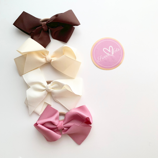 Sweet Tots Shop - Lucy Bow Hair-ties