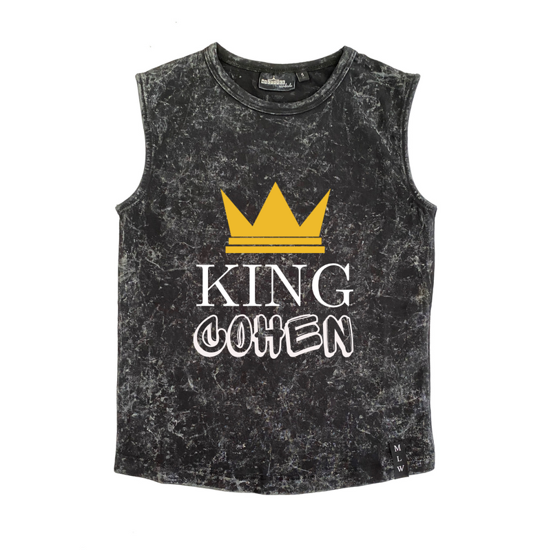 MLW By Design - Personalised King Stonewash Tank