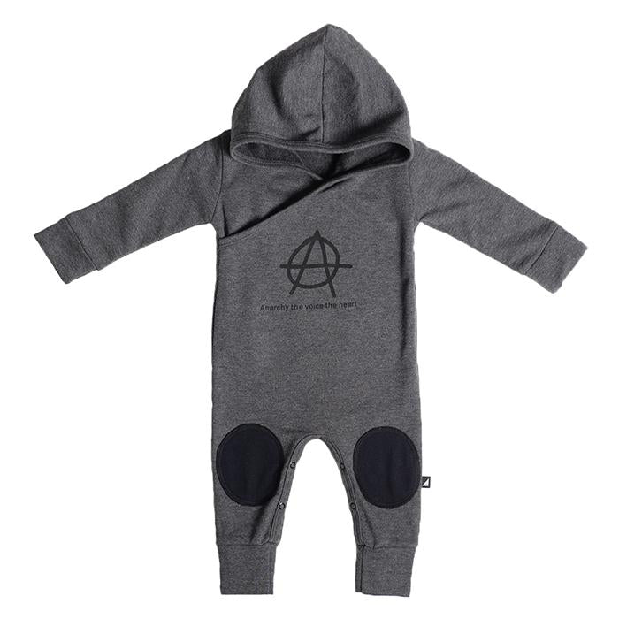 Anarkid - ANARCHY GREY HOODED ROMPER