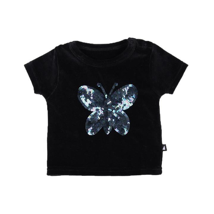 Anarkid - BLACK BUTTERFLY SEQUINS SS TEE