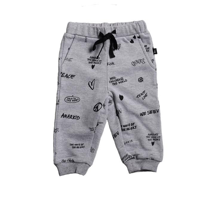 Anarkid - GREY PEACE AOP TRACKIES