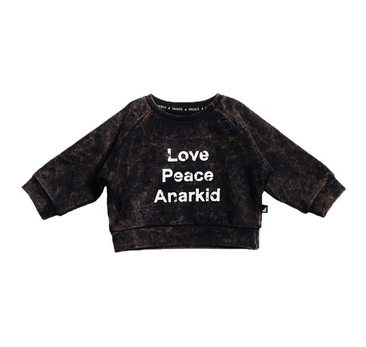 Anarkid - LOVE PEACE ANARKID WASHED SWEATER