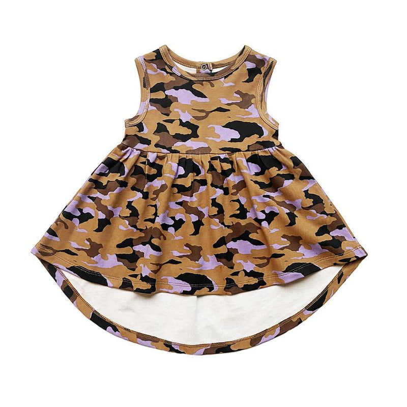Anarkid -  CAMO BROWN SLEEVELESS DRESS