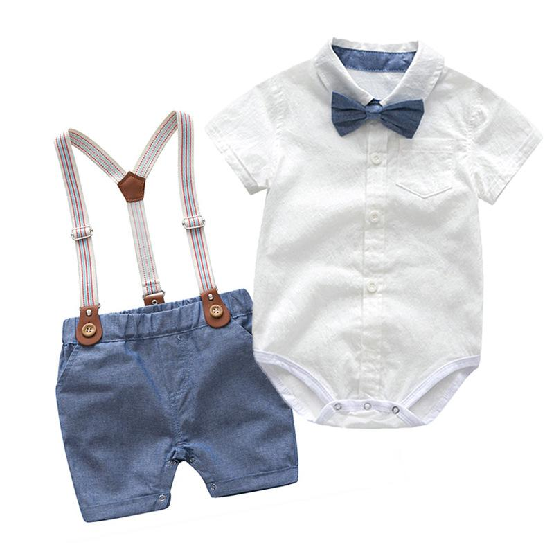 Arlo Bow Tie & Suspenders Set | Blue