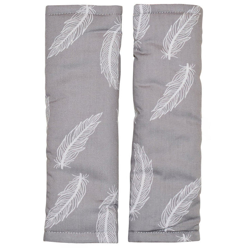Bambella Designs - Harness Covers - Grey Feathers