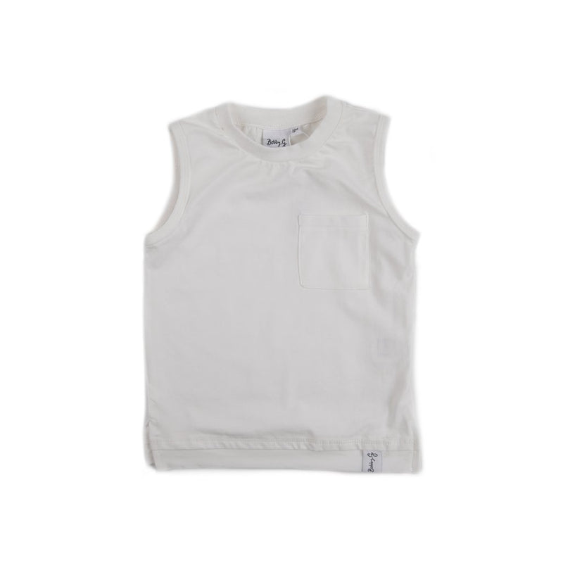 Bobby G Baby Wear -Tank Top | White