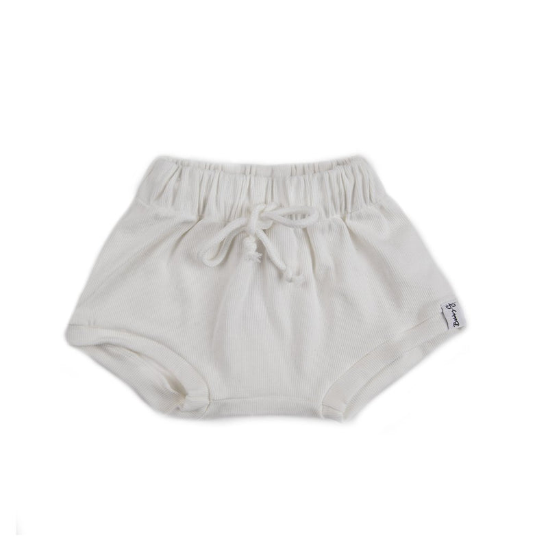 Bobby G Baby Wear - Shorties | White Ribbed