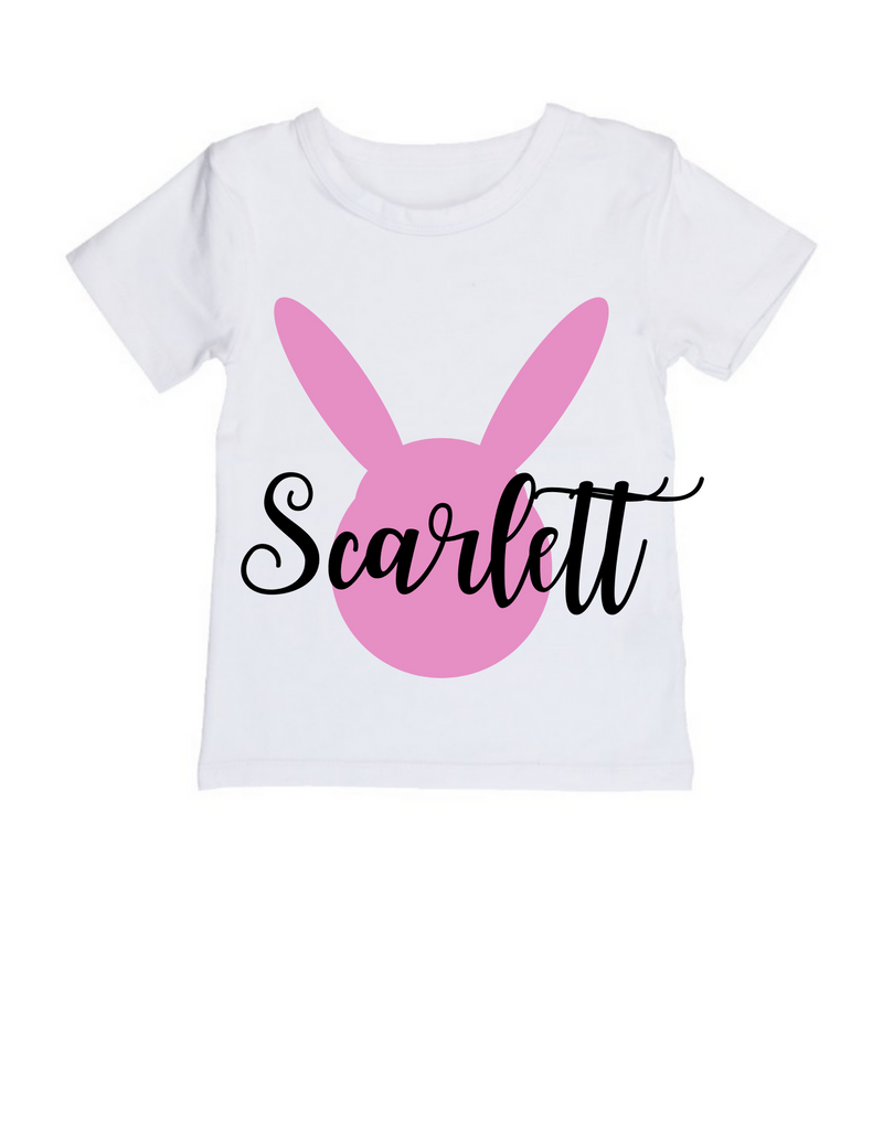 MLW By Design - Easter Personalised Tee | Pink