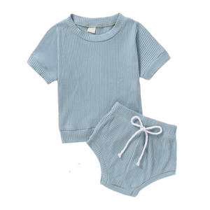 Texas Ribbed Set | Pale Blue