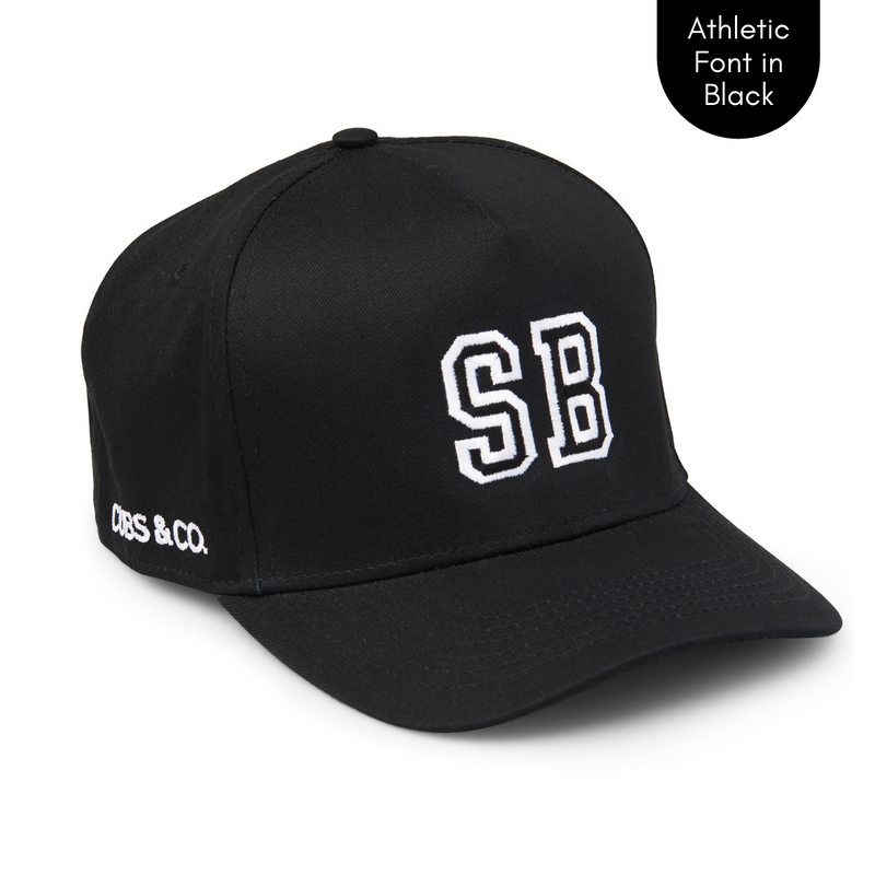 Cubs & Co - PERSONALISED BLACK W/ INITIALS | ATHLETIC BLACK PRINT
