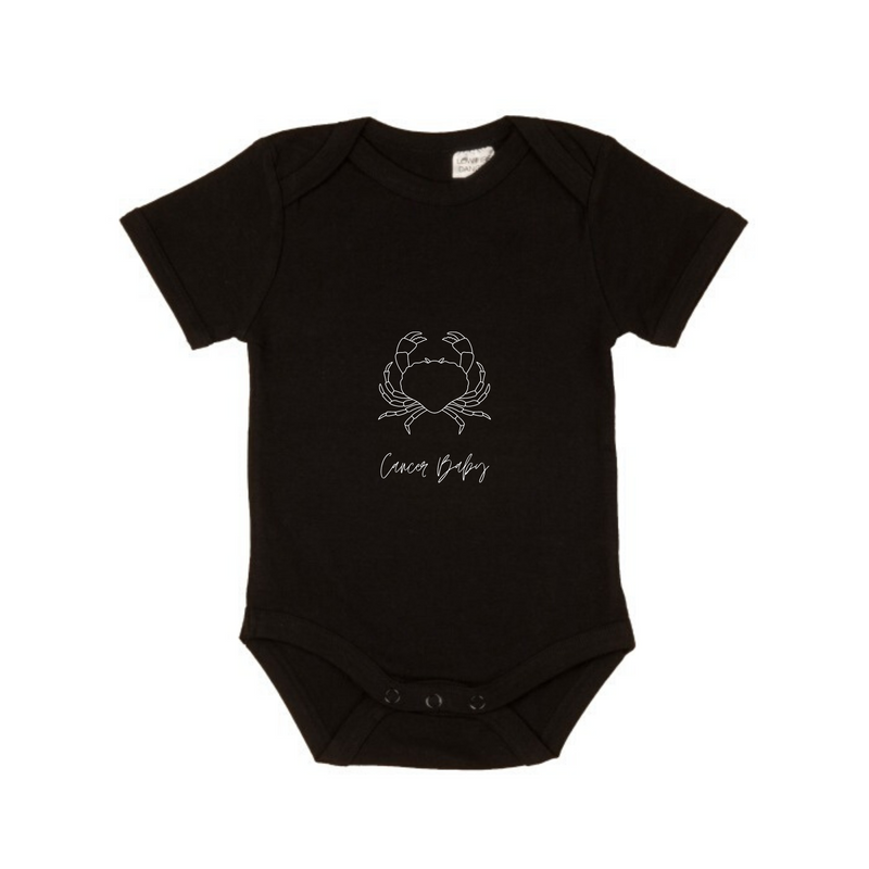 MLW By Design - Cancer Baby Short Sleeve Bodysuit | Black