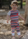 Romperoo - Red Chevron Cotton Romper