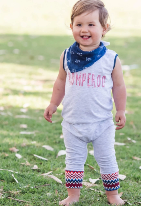 Romperoo - Romperoo Blue Cotton Romper