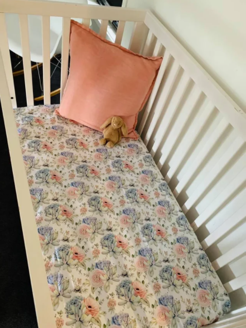 Olive June and Co - Fitted Cot Sheet | Succulent