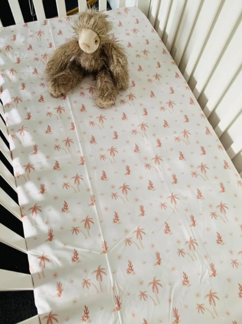 Olive June and Co - Fitted Cot Sheet | Summer Sunset