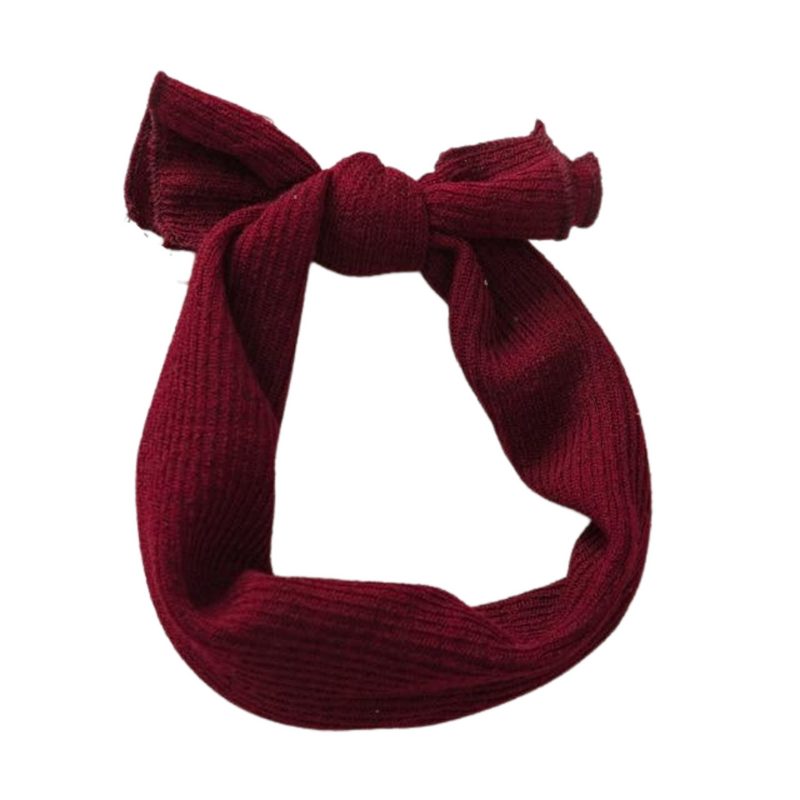 Ribbed Headwrap | Burgundy