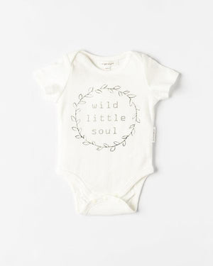 Organicline - Organic Cotton Wild Little Soul Bodysuit - Natural White
