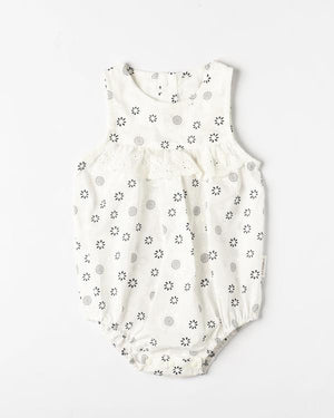 Organicline - Organic Cotton Sweetheart Baby Girl Romper
