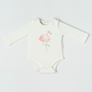 Organicline - Flamingo Long Sleeve Bodysuit