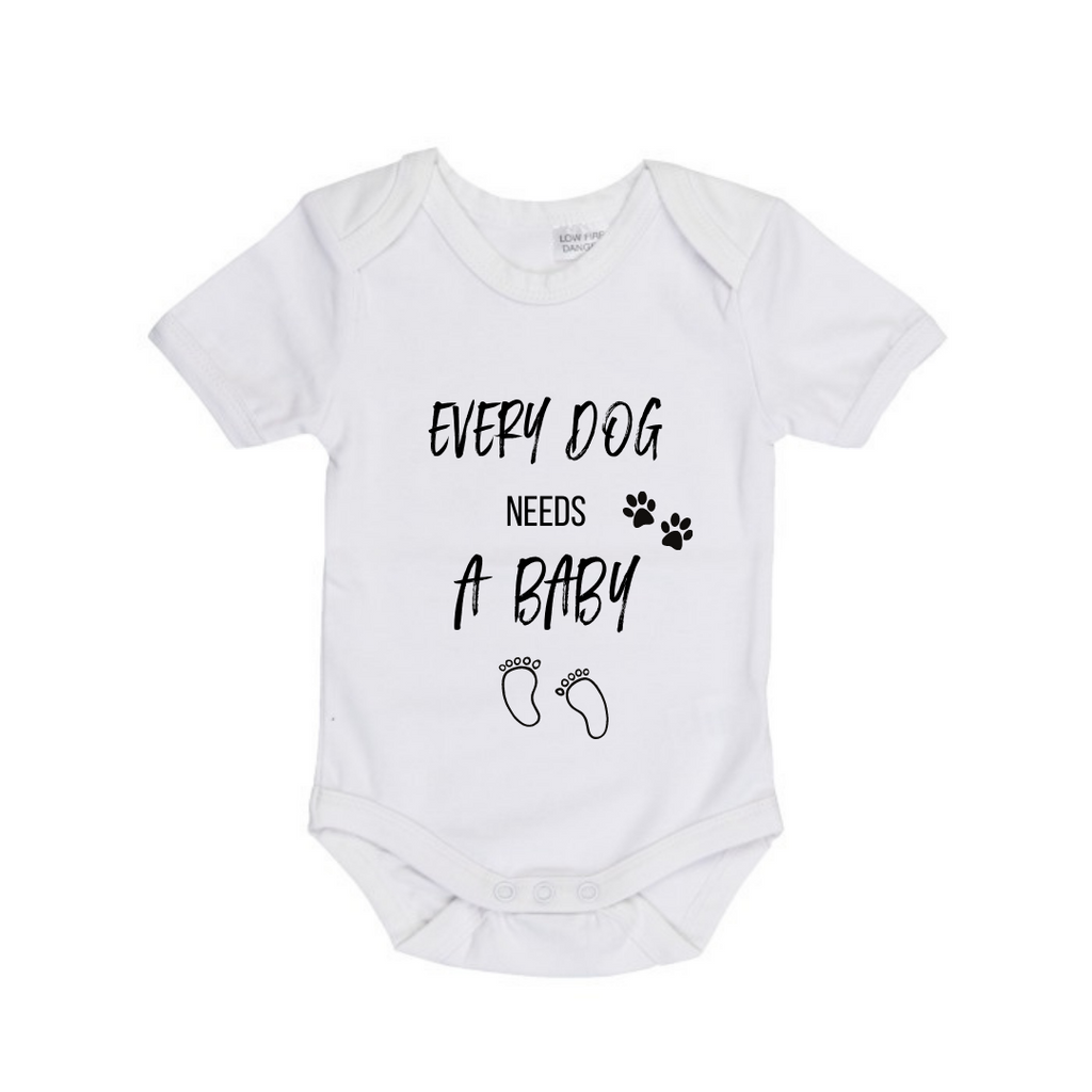 MLW By Design - Every Dog Needs A Baby Bodysuit | Black or White
