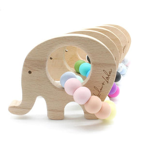 Lulu and Lala - ELLE silicone + wood teether | Various Color Combos