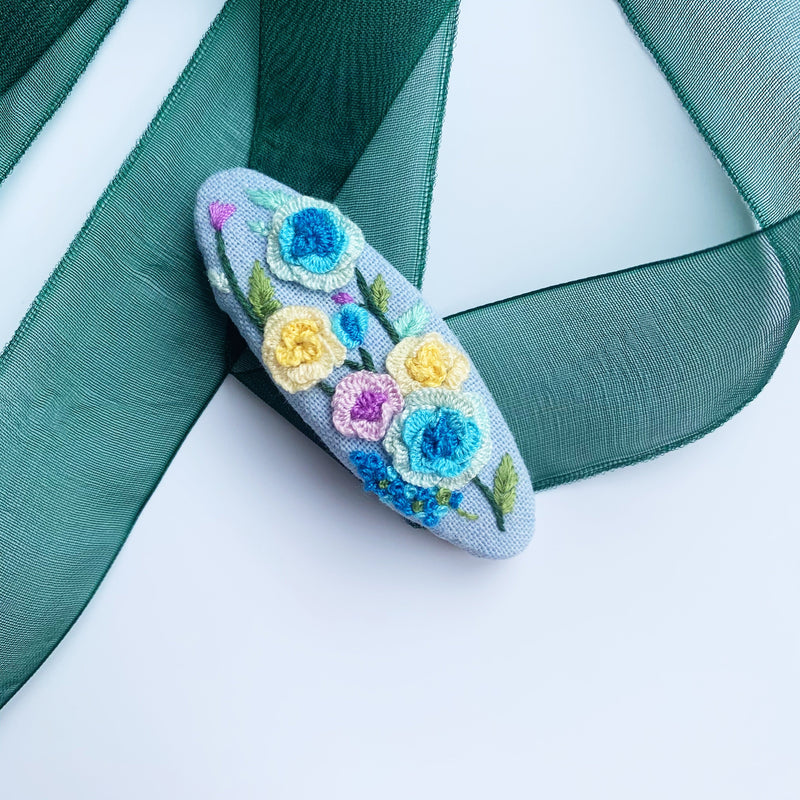 Little Secret Co - Embroidery Art Hair Clip - Fleur