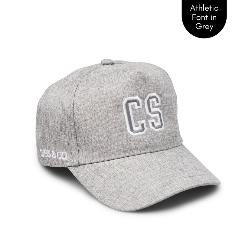 Cubs & Co - PERSONALISED GREY W/ INITIALS | ATHLETIC GREY FONT