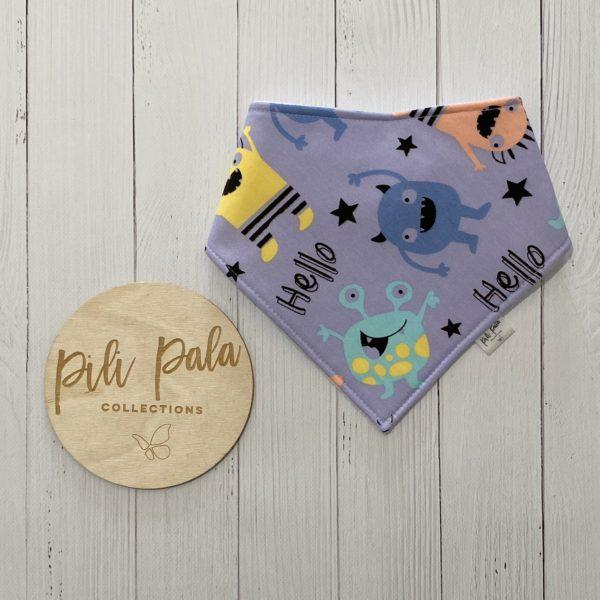 Pili Pala Collections - Little Monsters Dribble Bib