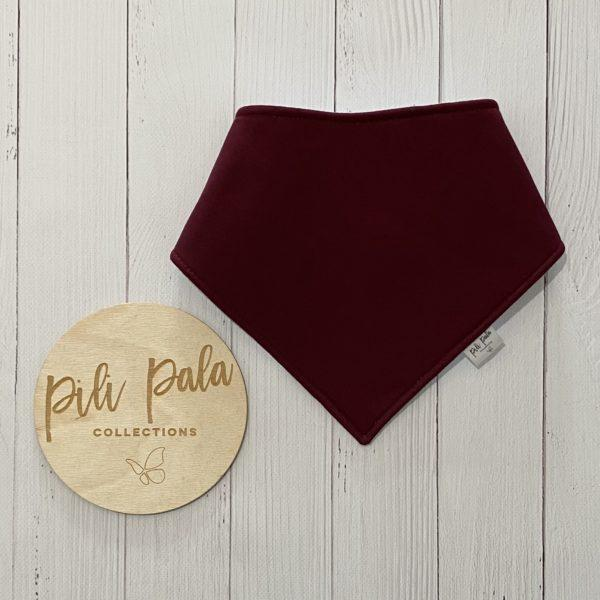 Pili Pala Collections - Burgundy Dribble Bib