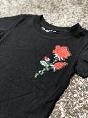 Carrington Kids - Rose Tee Black