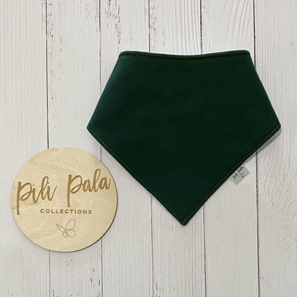 Pili Pala Collections - Bottle Green Dribble Bib